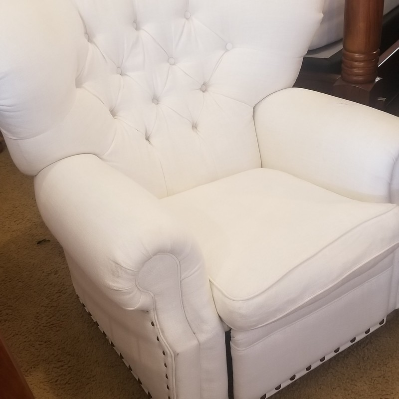 WHITE RECLINING WINGBACK, None, Size: None