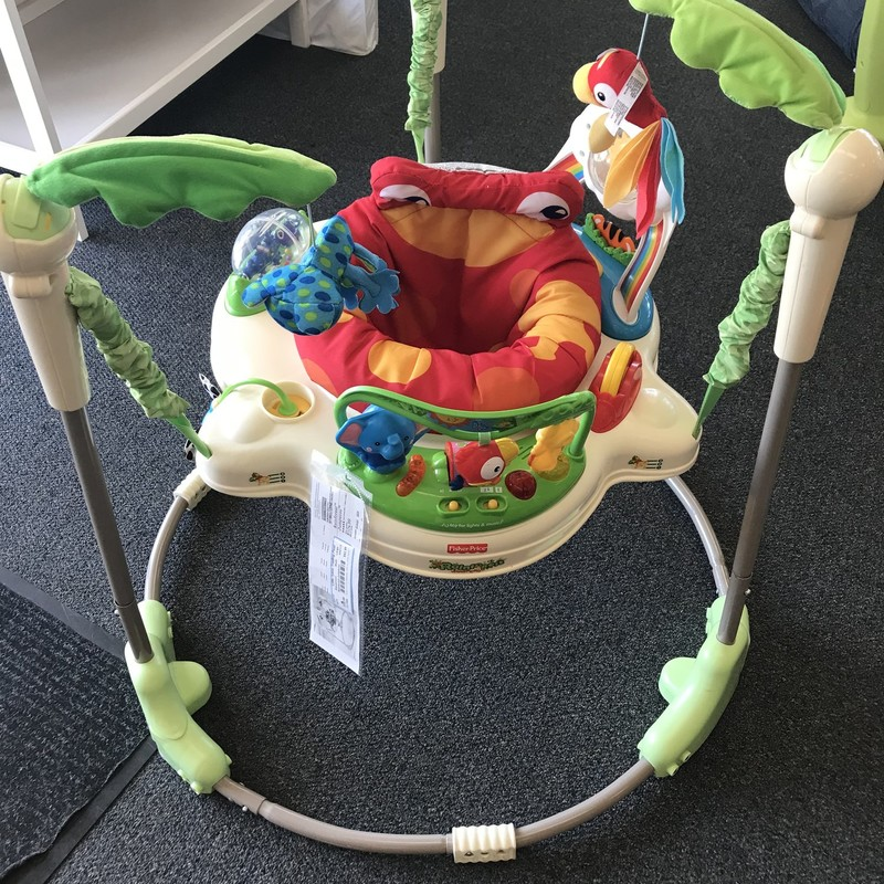 Fisher Price Rainforest Jumparoo<br /> Great Condition - Super Clean - Ready to Jump<br /> Our Price $52.99 - Retail Price $105