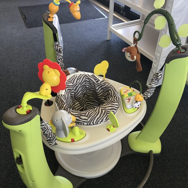 Even Flo Exsersaucer Bouncer with jungle animals<br /> Multi, Size: Large<br /> Our Price $64.99 - Retail Price $135