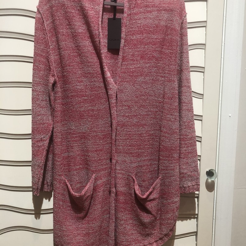 Oska Cardigan NWT $419, Pink, Size: Medium<br /> lightweight loungy cardigan, made is Romania