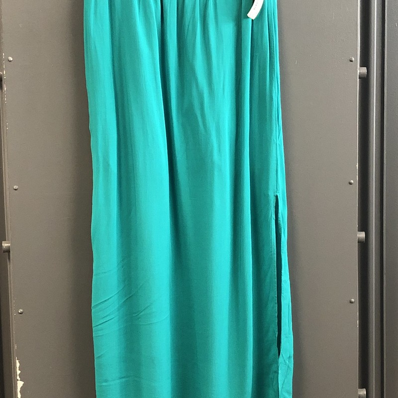 Maxi Skirt, Teal, Size: Medium