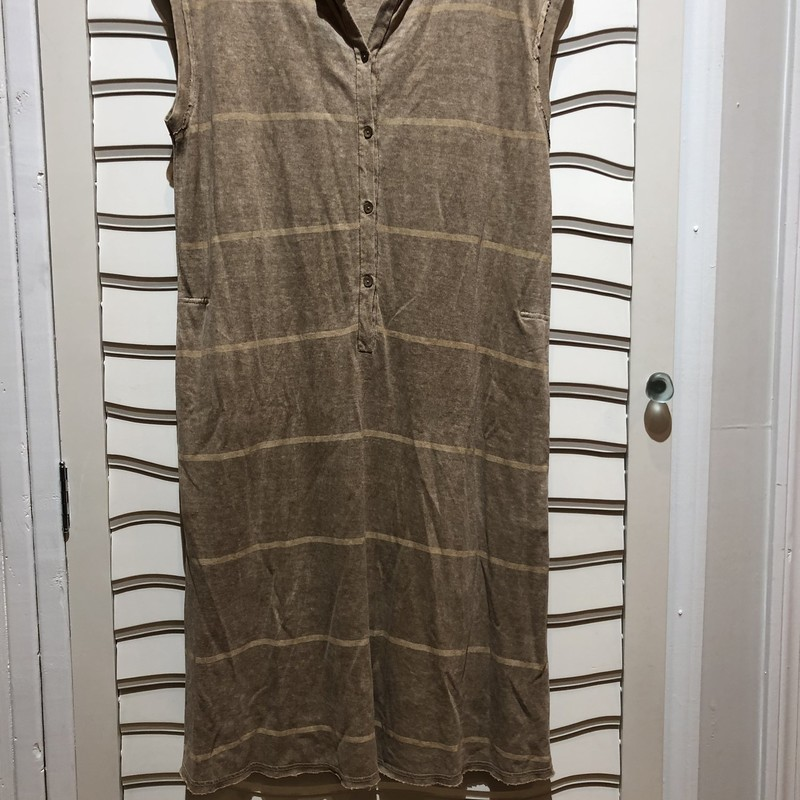 Oska Hemp Fiber Dress, Tan, Size: Large<br /> Effortless style here! Retail over $500 and the best part is the pockets!!