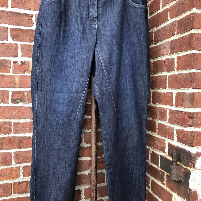 Oska Jeans- Msrp $350, Blue, Size: Large<br /> elastic in back waistband- new never worn high end boutique brand. Fits 12-14