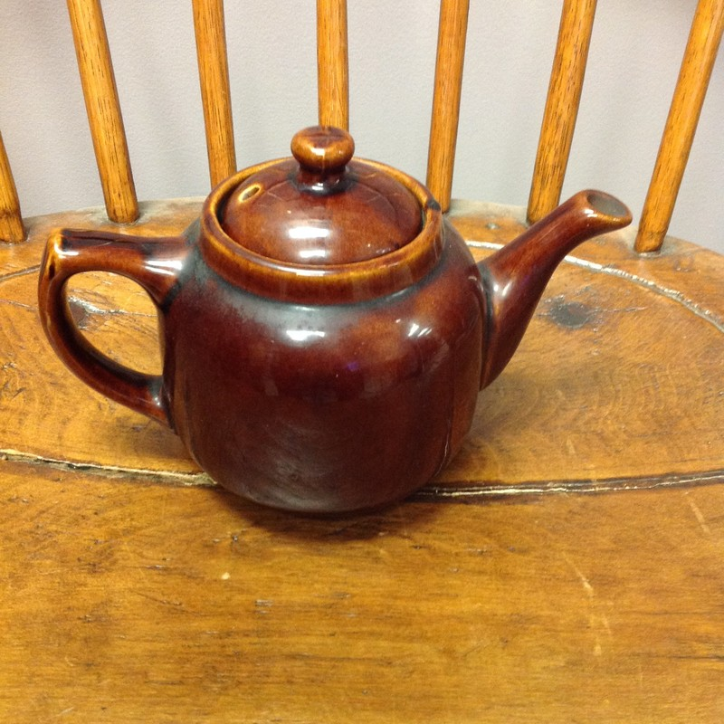 USA Pottery Teapot, Brown, Size: 8x6