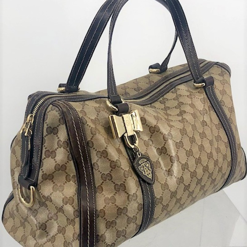 "Gucci Hysteria patent satchel, shoulder bag<br /> <br /> amazing condition<br /> Measurements:<br /> 9.5"" h<br /> 16.5"" w<br /> 7"" d<br /> 9"" strap drop"