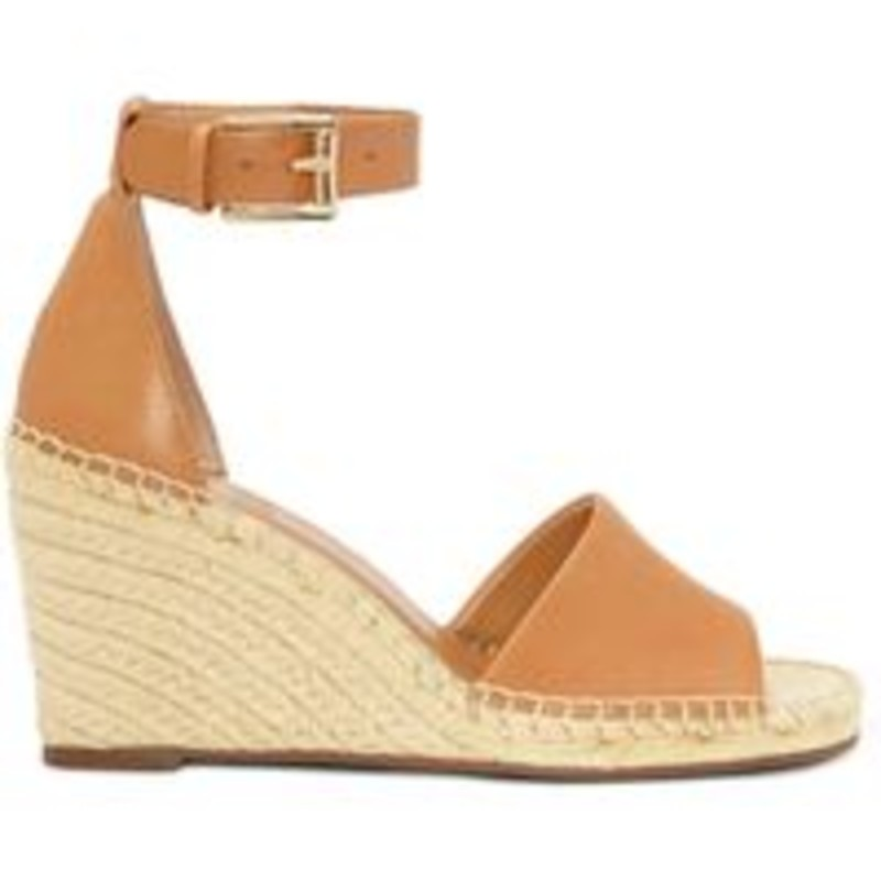 Vince Camuto Torian Wedge Espadrille Sandal, Tan, Size: 6.5, orig. rtl: $98