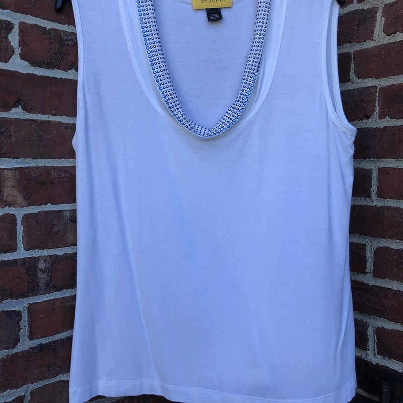 St. John Tank With Studs, White, Size: .T Burch<br /> cotton - great for summer dressing!