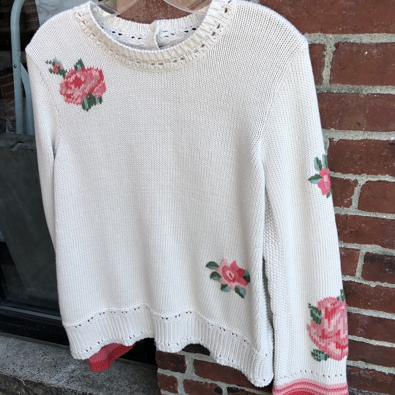Odd Molly Retail $425, Floral, Size: Large<br /> Cotton knit sweater in excellent condition! this sweater retails for $425