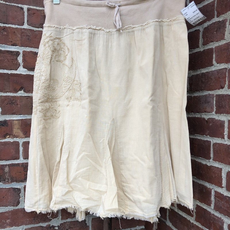 Danang Cotton Skirt, Tan, Size: One Size