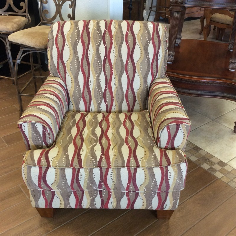 BARGAIN ALERT!!!! This oversized ASHLEY chair is priced to move at only $125. The lower seat cushion attached with velcro to reduce slippage. Hurry in, as this one won't last!