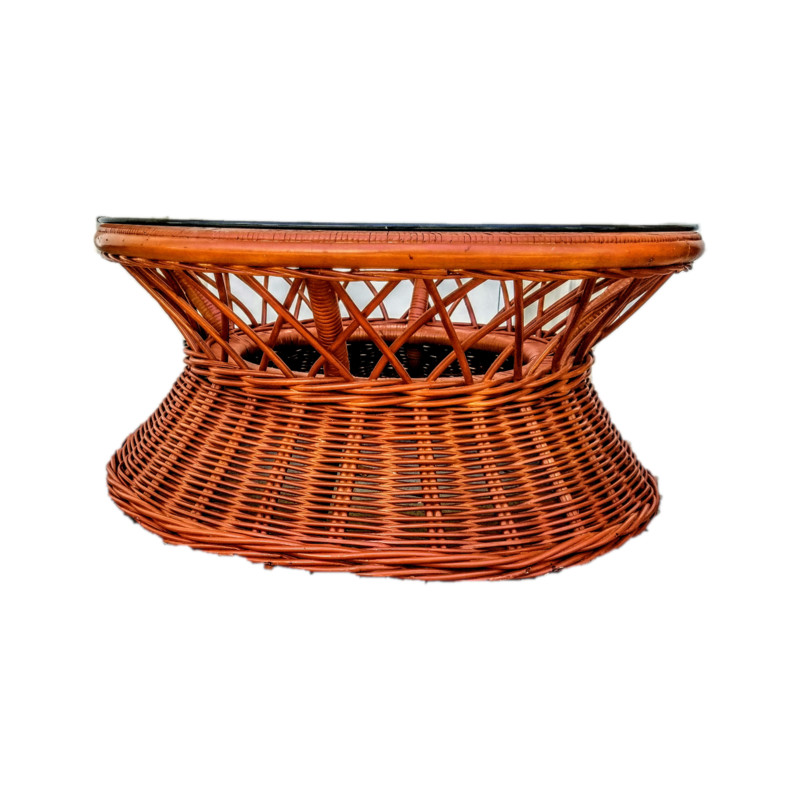 Ratten Coffe Table, Brown, Size: None