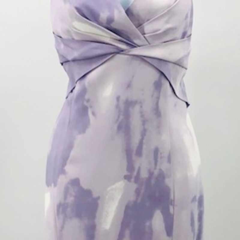 "Michael Kors collection lavender print sheath dress<br /> size 12 NEW WITH TAGS<br /> see measurements:<br /> Chest: 36""<br /> Waist: 32""<br /> Length: 39"""