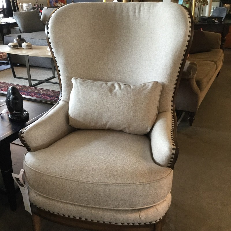 "New Arhaus Upholstred Chair, 2 Available, Natural, Size: 32""X20""X46"""