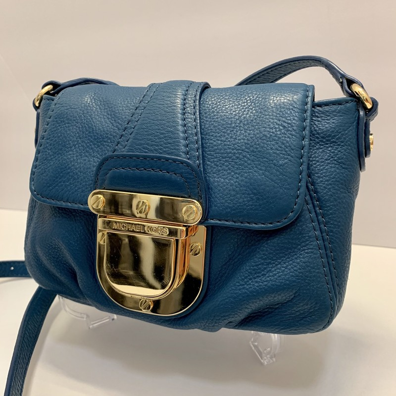 Michael Kors Charlton Bag<br /> Teal/Blue Leather<br /> Crossbody