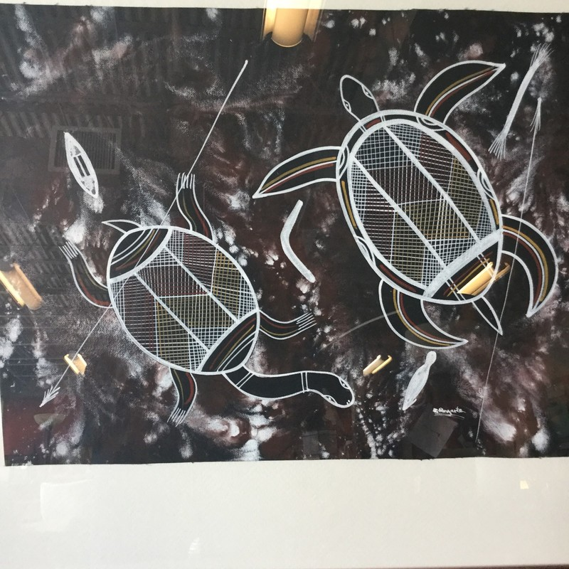 "Two Sea Turtle Art, Size: 27""X22"""