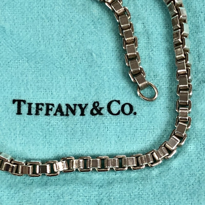 Tiffany & Co Venetian Box Chain<br /> 925 Sterling Silver<br /> Size: 18 In<br /> Pre-loved, excellent condition