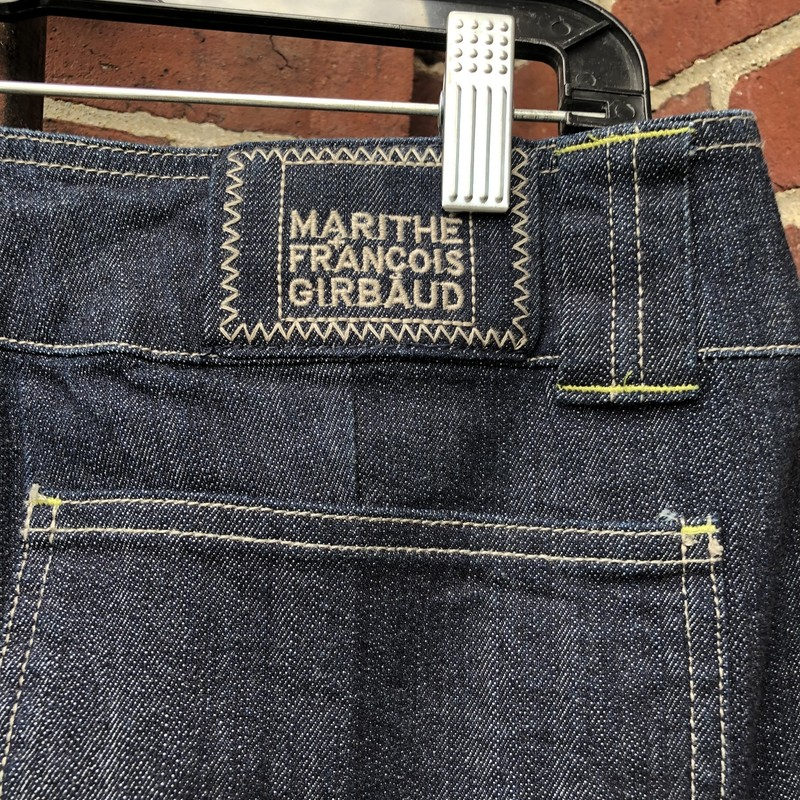 Marithe Francois Girbaud, Blue, Size: 30<br /> embroidered high fashion jeans