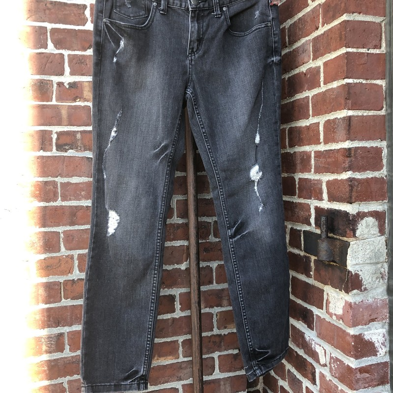 Free People Distressed Je, Black, Size: 30<br /> for size 8-10