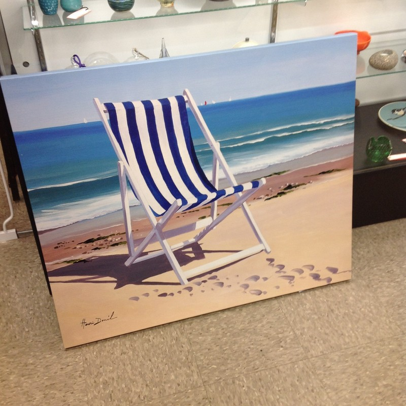 Beach Chair Print, None, Size: 36x30