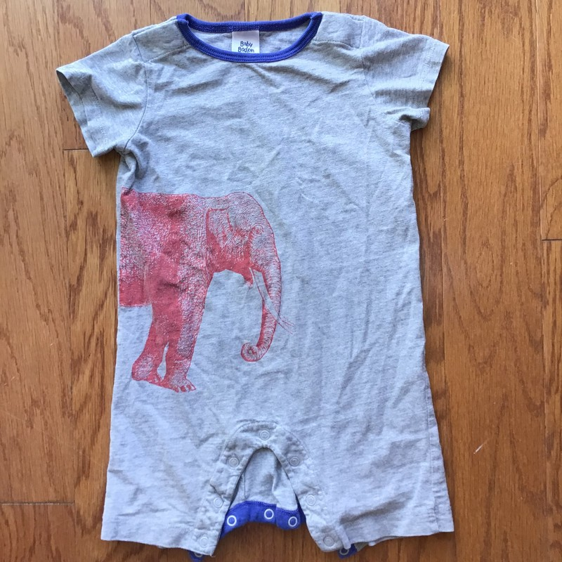 Baby Boden Romper, Gray, Size: 12-18m<br /> <br /> <br /> <br /> ALL ONLINE SALES ARE FINAL. NO RETURNS OR EXCHANGES.