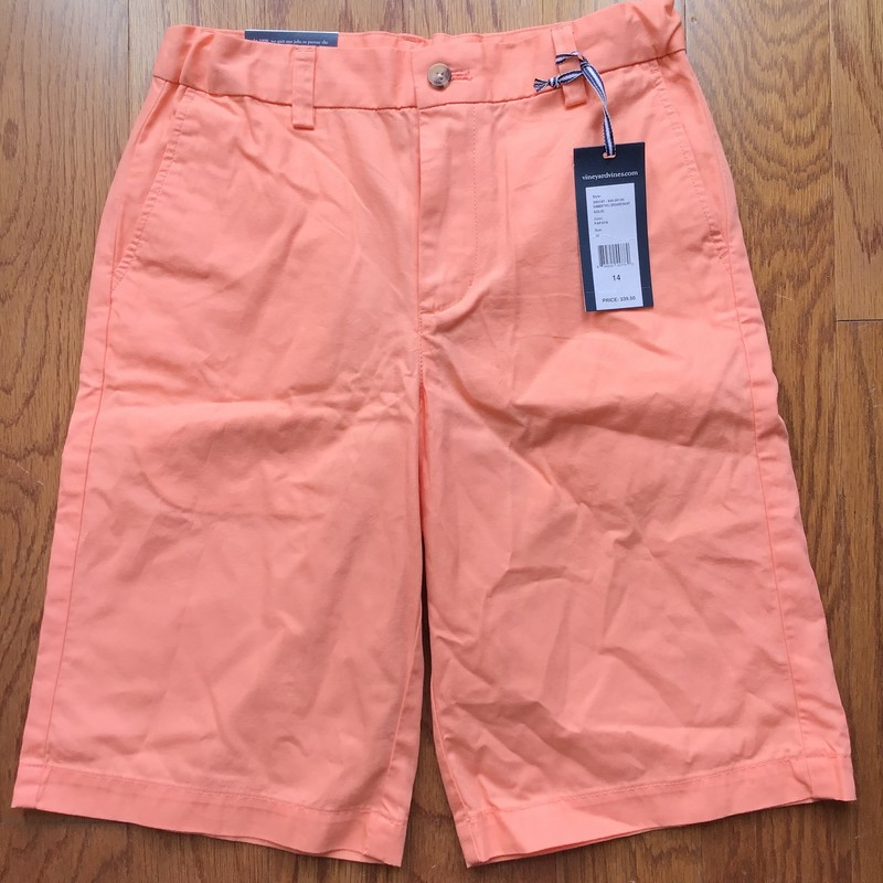 Vineyard Vines Short NEW, Orange, Size: 14<br /> <br /> <br /> BRAND NEW WITH $39 TAG!<br /> <br /> <br /> <br /> ALL ONLINE SALES ARE FINAL. NO RETURNS OR EXCHANGES.
