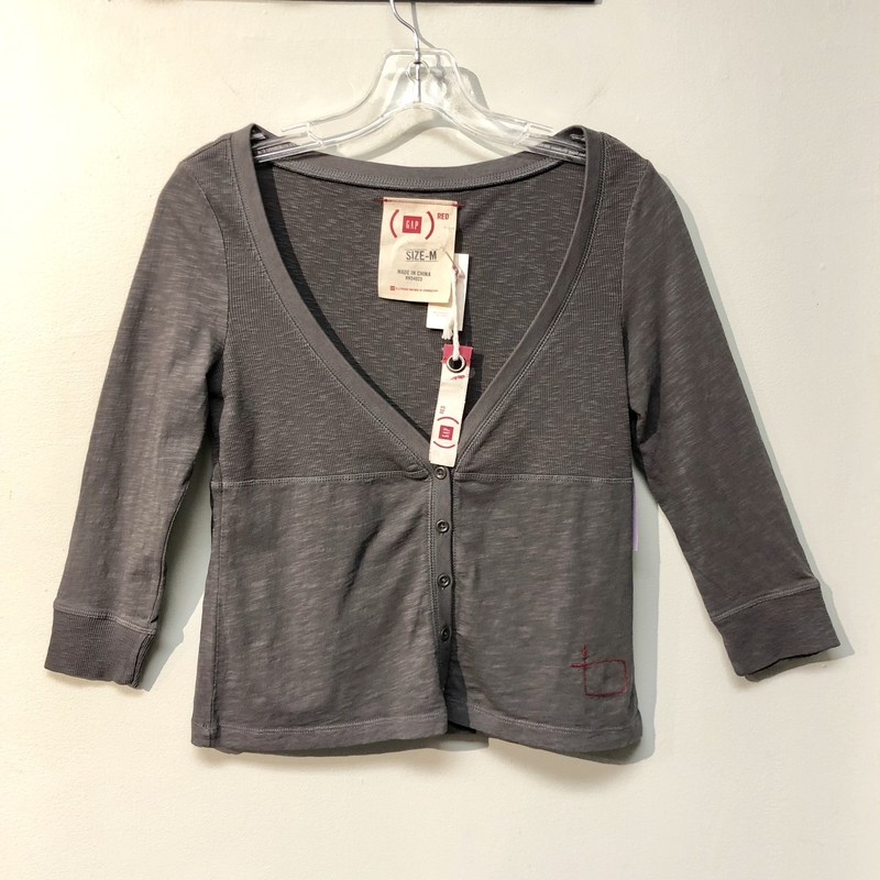 Gap Top<br /> Color: Dark Gray<br /> Size: Medium<br /> See photos for material & care instructions