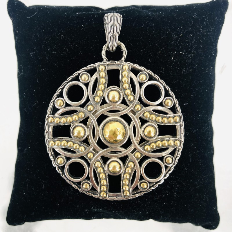 John Hardy 22KT Gold and Silver  Pendant