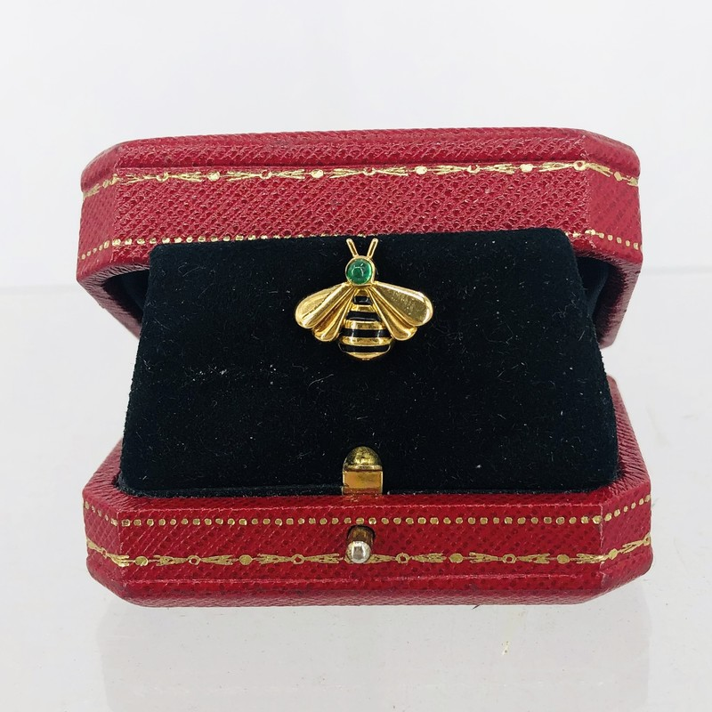 Cartier Gold and Emerald Bee Pin