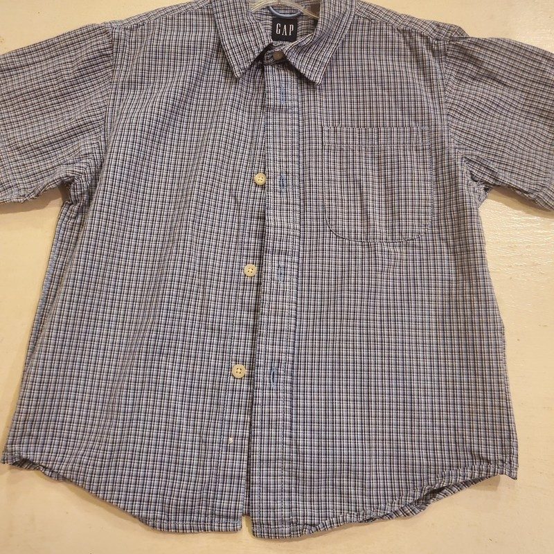 Gap Button Up short sleeve, Size: 4-5