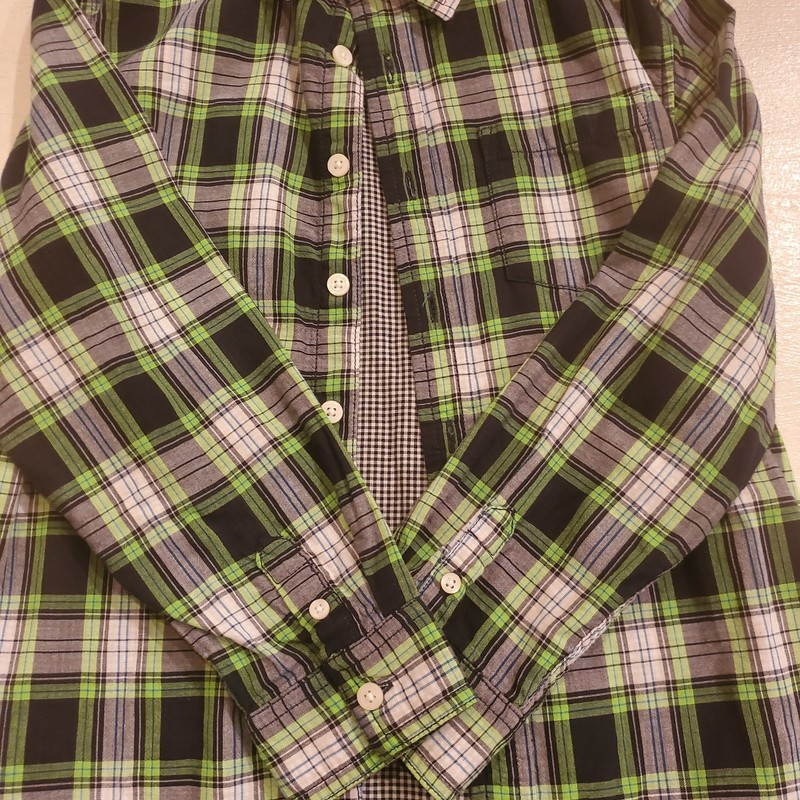 Gymboree Green Plaid, Size: 7-8