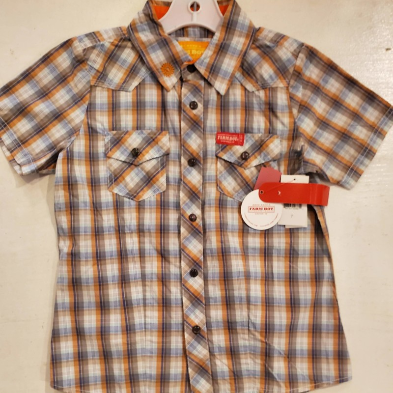 Farm Boy Button Up NEW, Size: 7