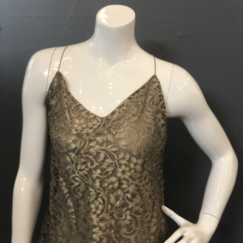 Ralph Lauren Lace Cami, Gold, Size: 10<br /> Purple Label<br /> <br /> 43% Metallic, 32% Viscose, 26% Polyamide<br /> <br /> New With Tags<br /> Original Retail: $998