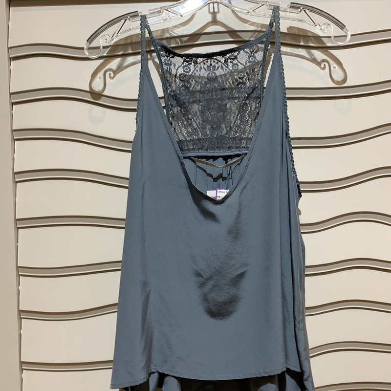 Gorgeous lace and 100% silk top from Cynthia Vincent. New with tags. Retails for $129. Size medium.