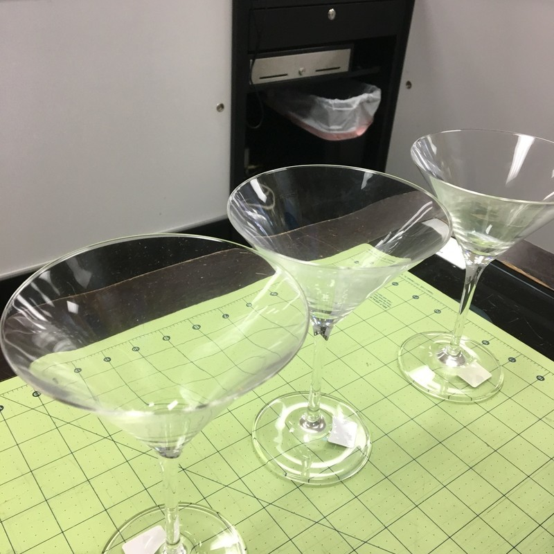 3 Crate/Barrel Martini Gl, None, Size: 7 Inch