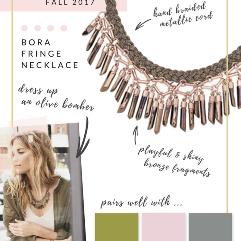 Stella Dot Bora Fringe Necklace