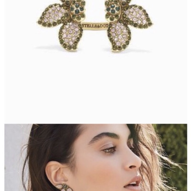 Stella Dot Petal Studs, Rose, Size: Medium