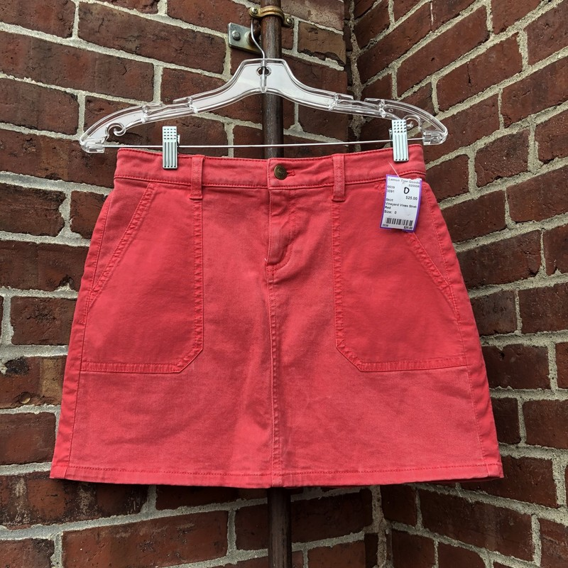 Vineyard Vines Stretch Sk, Red, Size: 0