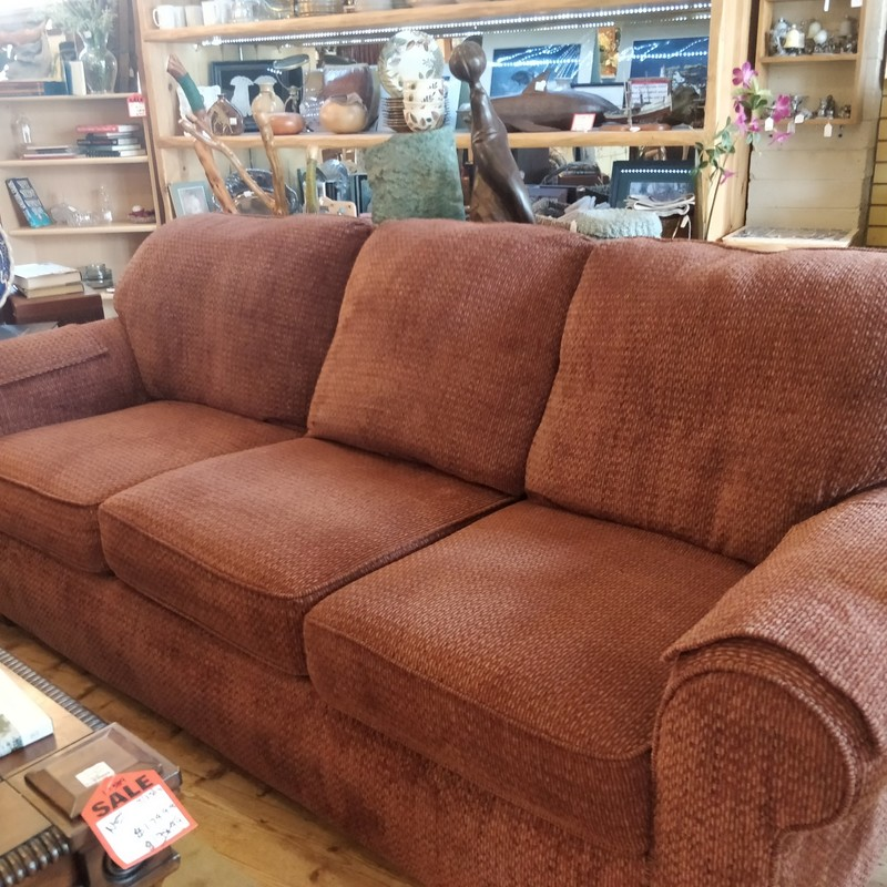 Great 3 seating sofa.<br /> Color: Rust/brown