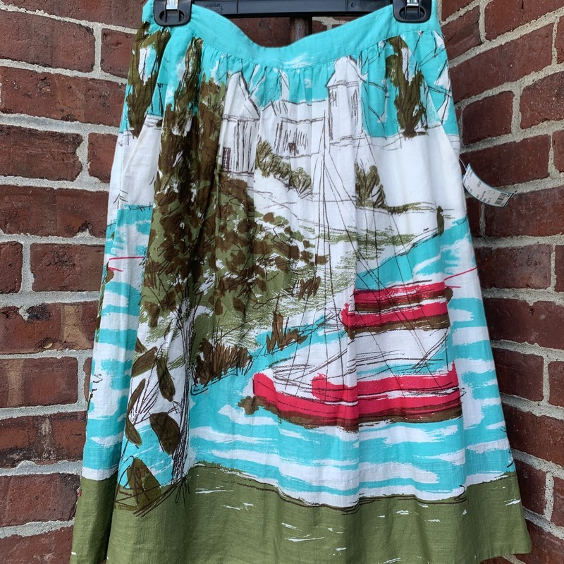 We Love Vera Skirt in Lake Print<br /> <br /> Beautiful Skirt in size 6!