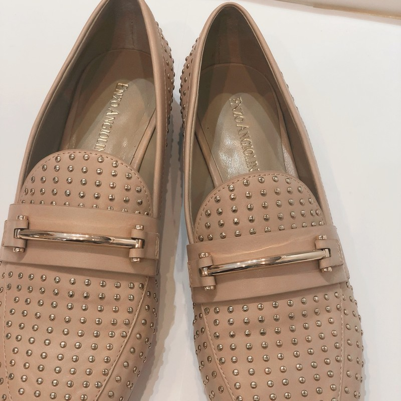 Enzo Angioloni Shoes, Studs, Size: 6.5<br /> Pale pink, new condition