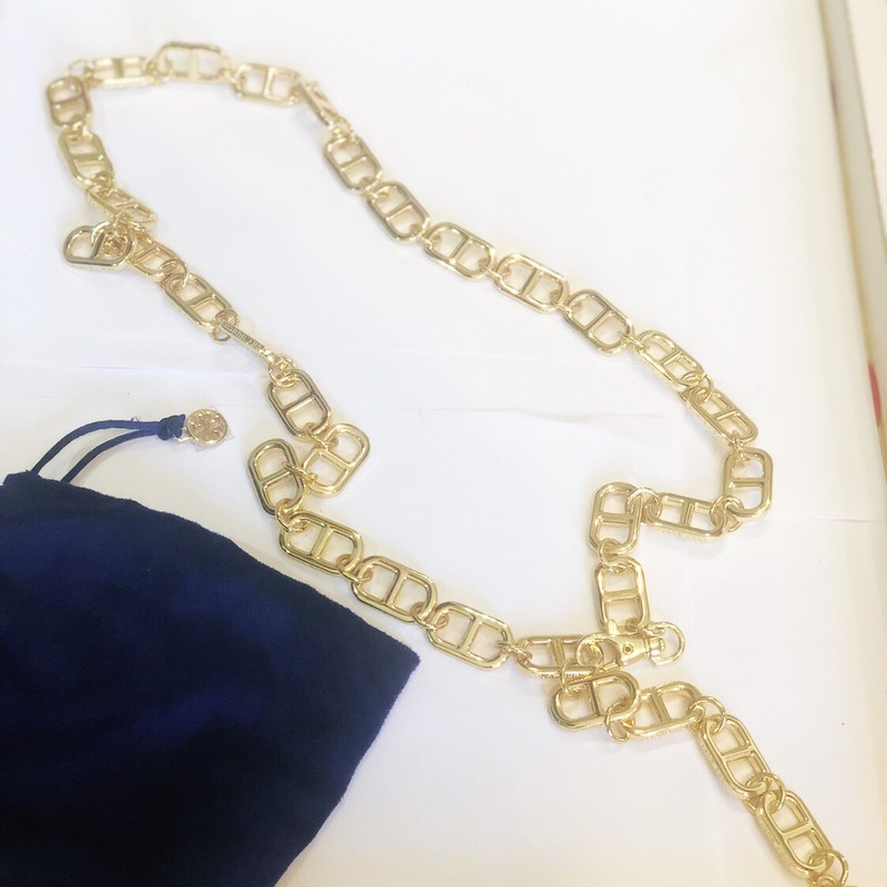 Tory Burch Gold Belt, Gold, Size: One Size<br /> Alot of beautiful hardware here!