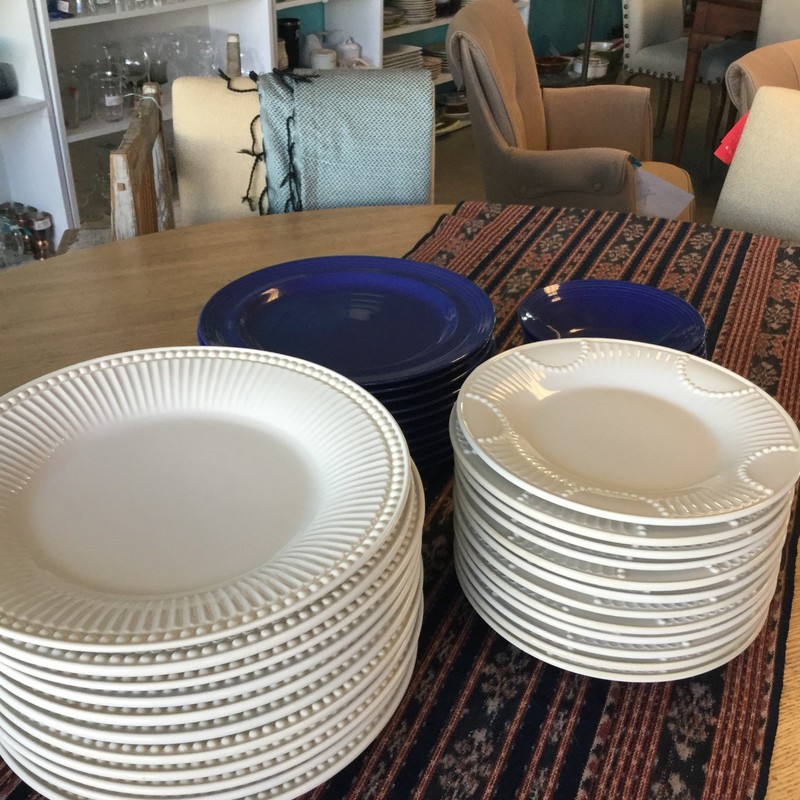"Set of 12, Breakfast Plates Lenox, Cream, Dinner Plates Also Available, Size: 8""D"