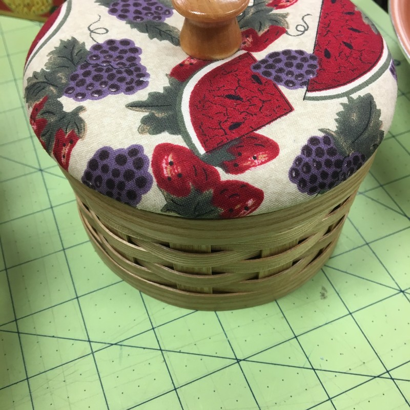Maine Made Sewing Basket, Rose, Size: 6x3
