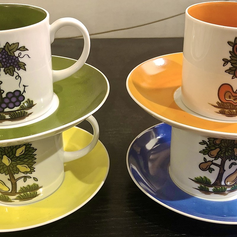 Cups & Saucers Seyei, Size: 8 Pieces<br /> 3 Sets available!