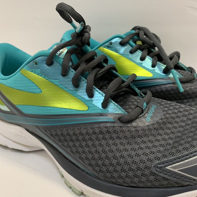 Brooks Launch 4 Running Shoe<br /> Aqua & Gray<br /> Size: 7.5<br /> (Retails for $189.00)