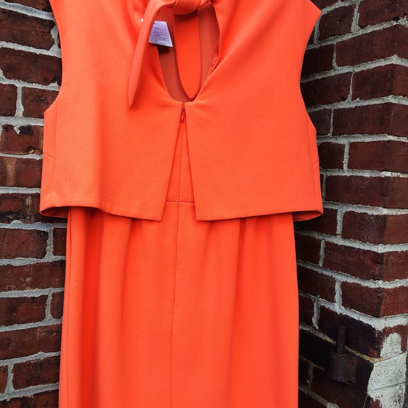 Hoss Anthropologie dress in Coral.  Layer on top with a tie on the back ath the neck , Size: 44 (should fit a size 12) NWT
