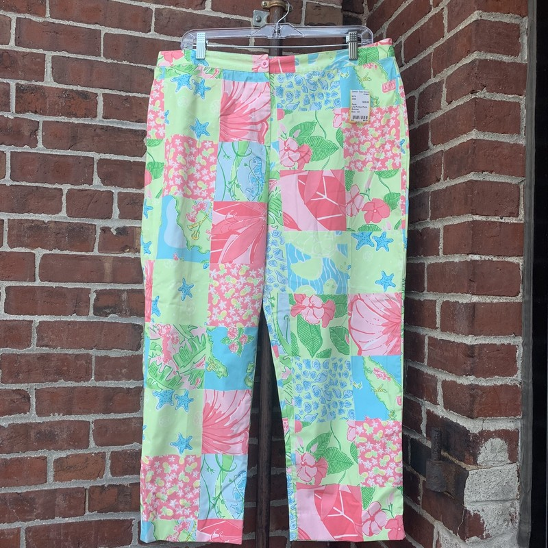 Lilly Pulitzer pants in a colorful, colorblock pattern. Fits a size large/XL (12-14).
