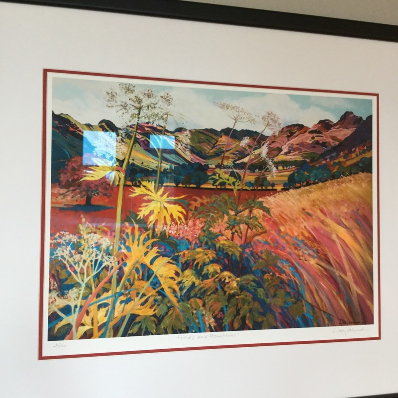 """Fields & Mountains"" by Edmondson, Print, 2/50, Glycee, Size: 34""X29"""