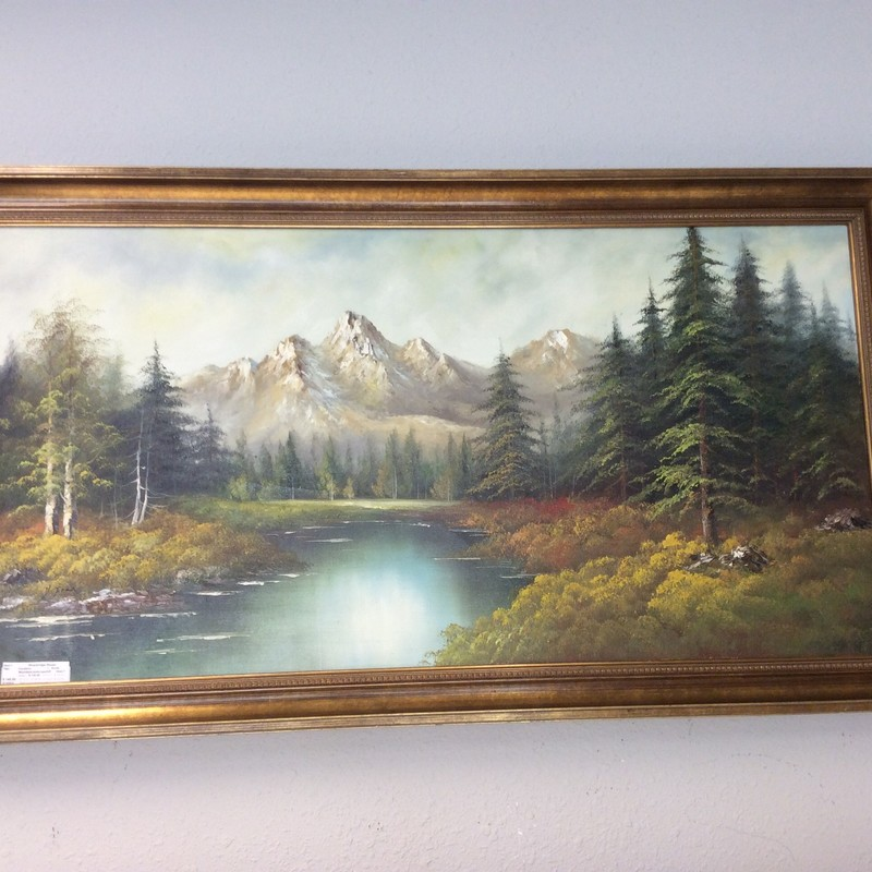 Since beauty is in the eyes of the beholder, I encourage you to stop by and see this piece in person. It is very peaceful and calming, and geatires no glare glass, so it can even be hung in a brightly lit room.