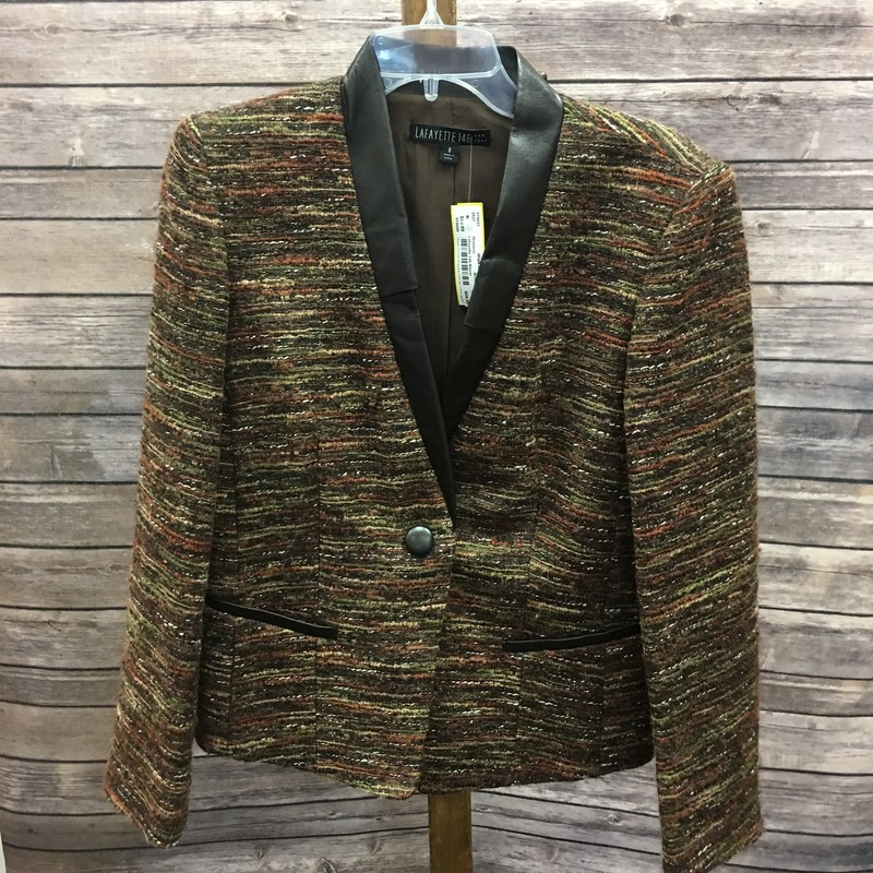Lafayette 148 Blazer, Brown, Size: Medium (8)